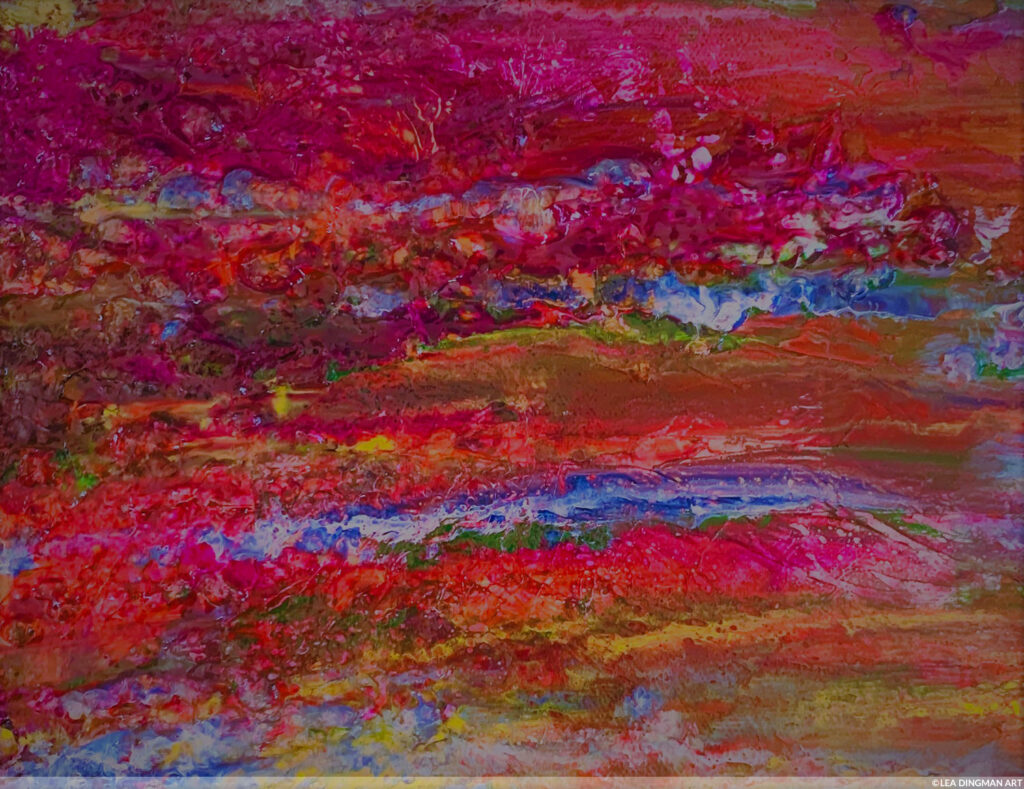 Water's Edge - Painting by Lea Dingman